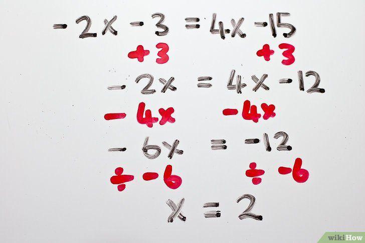 Imaginea intitulată Rezolvă ecuațiile algebrice cu două trepte Pasul 12