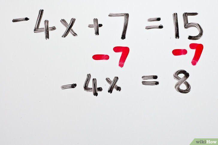Imaginea intitulată Rezolvă ecuațiile algebrice cu două trepte Pasul 3