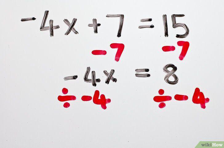 Imaginea intitulată Rezolvă ecuațiile algebrice cu două etape Pasul 4