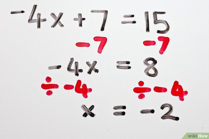 Imaginea intitulată Rezolvă ecuațiile algebrice cu două trepte Pasul 5