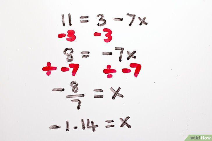 Imaginea intitulată Rezolvă ecuațiile algebrice cu două trepte Pasul 7