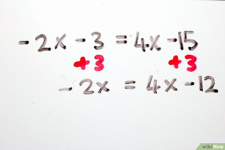 Imaginea intitulată Rezolvă ecuațiile algebrice cu două trepte Pasul 10