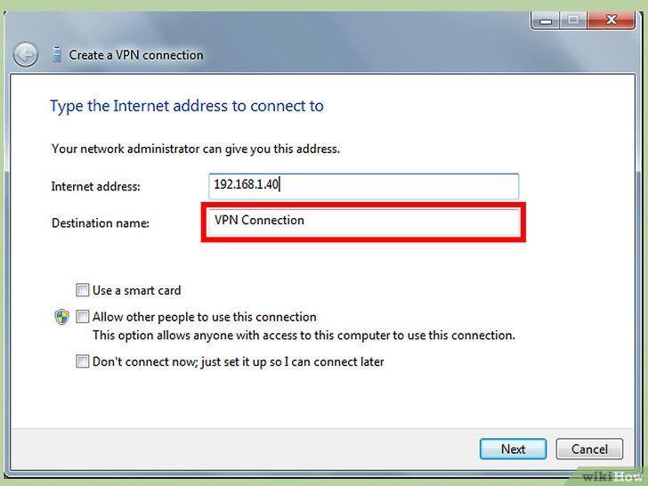 Imaginea intitulată Configurați un Vpn între două calculatoare Pasul 3