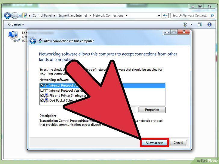 Imaginea intitulată Configurarea unui Vpn între două computere Pasul 6