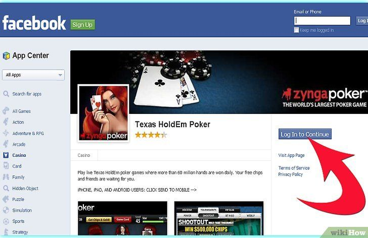 Imaginea intitulată Redați Zynga Poker Pasul 1